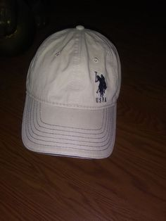 U.S. Polo Assn. Cap Hat Beige. With Blue Logo Os Adjustable  fashion   9b735772ea00