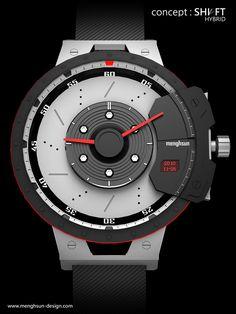 menghsun design: concept : Shift Hybrid (Watch)