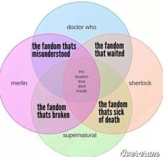 And I'm in every one of them... What does that say about us multi-fandom people?