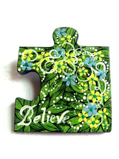 Katy, you will have to come stay with me for a week of crafting with Britty and Maci! Puzzle Piece Crafts, Puzzle Art, Puzzle Pieces, Autism Crafts, Cute Crafts, Crafts To Sell, Summer Camp Art, Puzzle Jewelry, Asperger