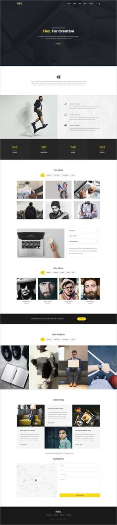 Flex is a clean and trendy #PSD #Template for stunning #onepage websites download now➩ https://themeforest.net/item/flex-multipurpose-one-page-psd-template/19262345?ref=Datasata