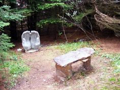 Prayer bench in the Gardens of Hope New Glasgow, PEI
