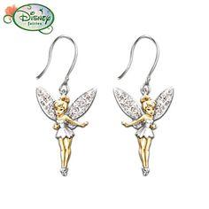 """Disney Tinker Bell """"Believe"""" Earrings"""