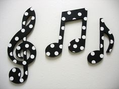 black and white home accessories | Music Notes Wall Decor Black and White by TWOPINKDOTS on Etsy