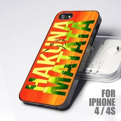 Hakuna Matata Colorful No Worries 4 design for iPhone 4 or 4s Case