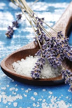 Bath Soak From the Dead Sea with Lavender, Palmarosa & Clary Sage 100% Natural and Pure - Best Dead Sea Salt for Detox, Relaxation, Sprains and Aches with Dendritic Salt, with 2 Ounce Scooper