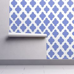 Moroccan Ogee Damask // Periwinkle custom wallpaper by theartwerks for sale on Spoonflower Periwinkle Bedroom, Blue Bedroom, Fabric Wallpaper, Custom Wallpaper, Custom Printed Fabric, Printing On Fabric, Lilac, Lavender, Perfect Wallpaper