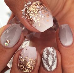 Ombre nail are goals ladies! Finding the very best ombre nails make us happy in life. There is just something about the color transitioning featured in ombre nails that offer an amazing perspective… Get Nails, Fancy Nails, Trendy Nails, Love Nails, Pink Nails, Glitter Gradient Nails, Ombre Nail, Style Nails, Metallic Nails
