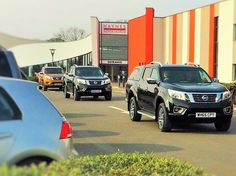 Road test of Nissan NP300 models at F J Chalke Wincanton launch event in February 2016 at Haynes International Motor Museum Sparkford