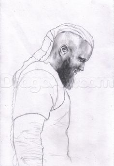 how to draw ragnar lothbrok from vikings step 6
