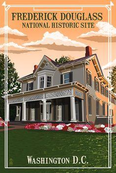 Washington D.C. - Frederick Douglass House - Lantern Press Poster