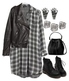 """967."" by adc421 ❤ liked on Polyvore featuring Madewell, H&M, MANGO and octoberblack"