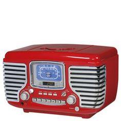 Crosley Corsair Retro Stereo System | http://www.stoneberry.com