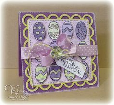 The Stamping Scrapbooker: Verve Spotlights - Day 2 is EGG-STRA SPECIAL!
