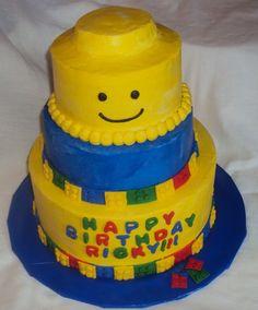 Lego Cake - Buttercream with fondant lego border