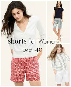 Well ladies, it's that time of year again when we start pulling out the shorts. So…I thought I would share some shorts for women over 40. #graceandbeautystyle #fashionover40 #shorts