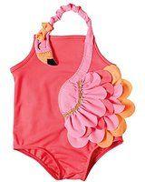 Mud Pie Baby Girls' Flamingo Swimsuit