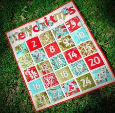 I miss having an advent calendar!  And this is so colorful and fun.