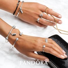 Glamour meets Feminine Beauty! Pops of pink and sparkling PANDORA Jewelry complements your vibrant personality. #GlatzJewelers #PANDORA #DoPANDORA #Jewelry #Fashionista #Glam