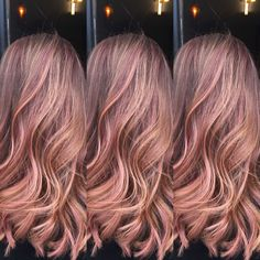 "Beautiful rose gold! Using pravanas ""Too Cute Coral"" & Paul Mitchell 7rv w/ equal parts Clear"