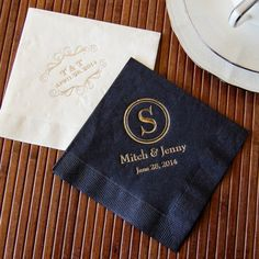 Personalized Bridal Napkins for wedding, engagement party, rehearsal dinner, bridal shower (($))