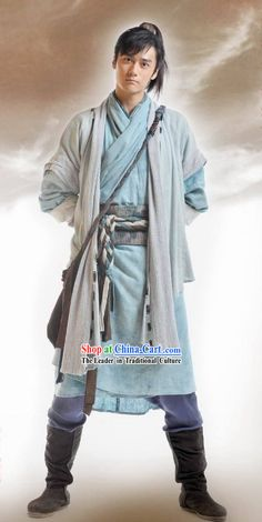 Ancient Chinese Swordsman Costume Complete Set rental set traditional buy purchase on sale shop supplies supply sets equipemnt equipments Chinese Armor, Chinese Man, Chinese Style, Ancient China Clothing, Landsknecht, Chinese Clothing, Chinese Culture, Character Outfits, Hanfu