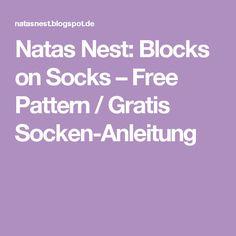 Natas Nest: Blocks on Socks – Free Pattern / Gratis Socken-Anleitung