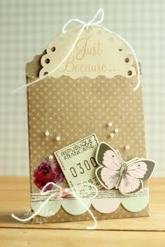 Just Because Tag with Envelope - Scrapbook.com