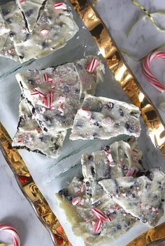 white chocolate peppermint cookie bark recipe