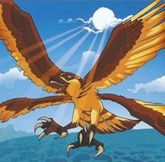 Sunhawk is a Meso-Titan that is a cousin of Solwing. It is among the strongest of the bird titans and is strong enough to lift other Titans into the air.   Abilities  Sunhawk possess enormous strength and can lift Seekers or other Titans with its Airlift ability.