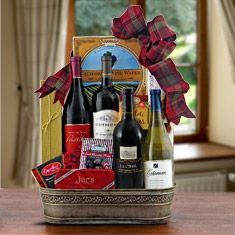 California Wine Quartet Gift Basket