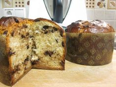 Panettone chocolate Thermomix Food N, Food And Drink, Chocolate Thermomix, Caviar D'aubergine, Pan Dulce, Italian Desserts, Macaroons, Food To Make, Gastronomia