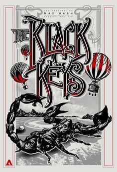 Black Keys Poster for Max Bash 2013 on Behance