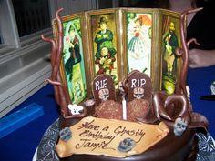 Custom Haunted Mansion Cake - celebrating a Disneyworld vacation right!