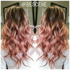 igora royal hair color 9.5-18 - Google Search Cabelo Rose Gold, Rose Gold Hair, Pink Hair, Blond Rose, Hair Color And Cut, Dye My Hair, Hair Images, Love Hair, Looks Cool