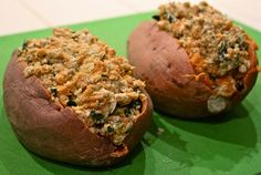 Hungry Hungry Hippie - My kinda food blog name! Yummy sounding  (healthy) recipes I gotta try! Pic is stuffed sweet potatoes, need I say more.