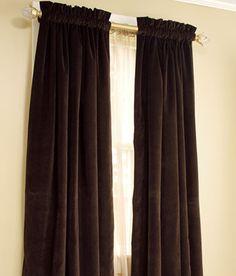 Hyde Park Lined Velvet Rod Pocket Curtains $159.50   $234.50 Per Pair
