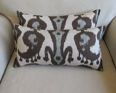 IKAT 9x16 accent/lumbar pillows pair