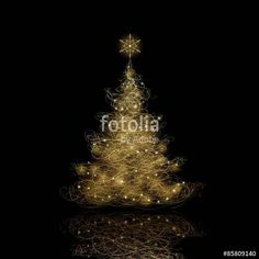 Vektor: Christmas Tree, vector eps9. Background color can be changed without loosing the glow effect