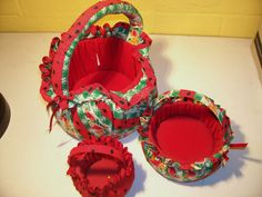 Nesting baskets Watermelon design by rustyitems on Etsy, $10.00
