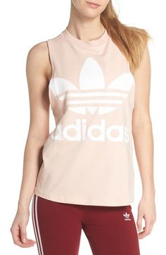 Free shipping and returns on adidas Originals Trefoil Tank at Nordstrom.com. This logoed pure-cotton tank is cut light and loose for easy layering and a breezy fit.