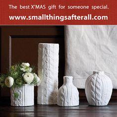 Tricot Vases Gift 'Joy' -Be a Secret Santa this year! #GiftingIdeas  #holidayseason #christmas #giftsforherhttp://smallthingsafter...