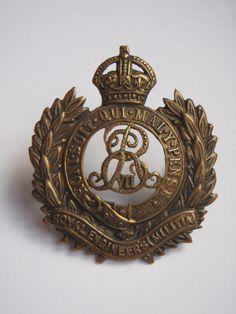Edward VII Royal Engineers Militia Cap Badge