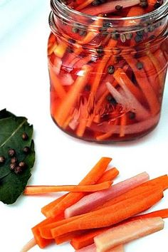Post image for Pickled Rainbow Carrot Sticks