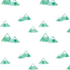 Mountains // green fabric by littlearrowdesign on Spoonflower - custom fabric