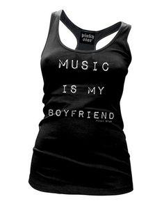Music Is My Boyfriend Racerback Tank Top