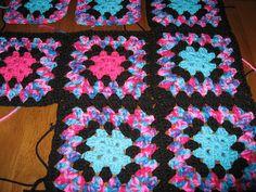 Crochet Granny Square blanket by janpugs, via Flickr