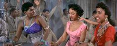 Pearl Bailey, Diahann Carroll and Dorothy Dandridge in Carmen Jones (1954)