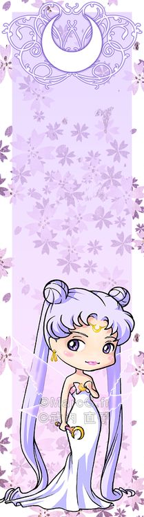 And finally, the last character of my new Sailor Moon bookmarks set : Queen Serenity This is a very special character for me, one of my favorite ever! I love her design, lavender hair make her look. Sailor Jupiter, Sailor Venus, Sailor Mars, Arte Sailor Moon, Sailor Neptune, Tuxedo Mask, Sailor Mercury, Sailor Moon Crystal, Chibi