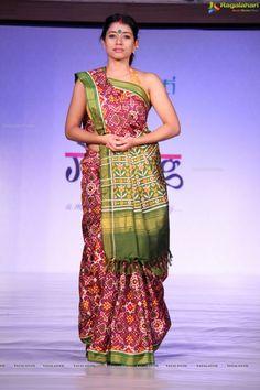 Berry and Green Shaded Patan Patola Saree by Gaurang Shah